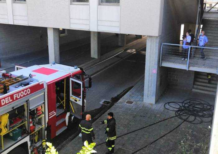 Ospedale di Baggiovara, incendio nel reparto 'diagnosi e cura'