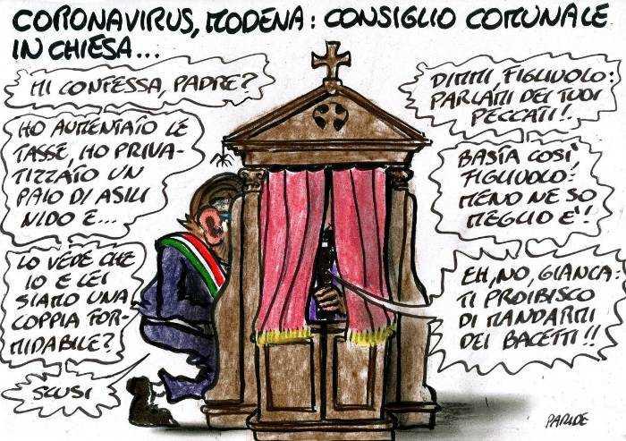 Modena, le confessioni di Muzzarelli