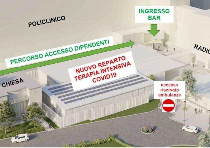 Policlinico Modena centro nazionale terapie intensive: al via i lavori