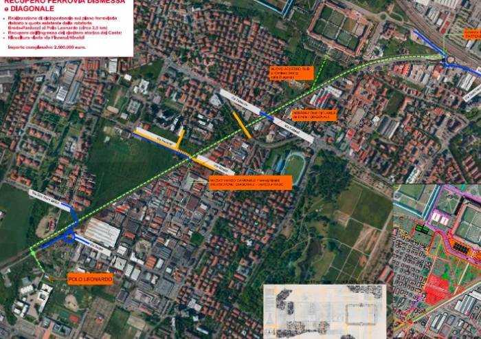 Un milione di euro a chilometro per la ciclabile diagonale