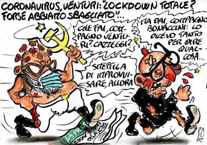 Lockdown inutile, Venturi dice la verità... l'ira di Bonaccini