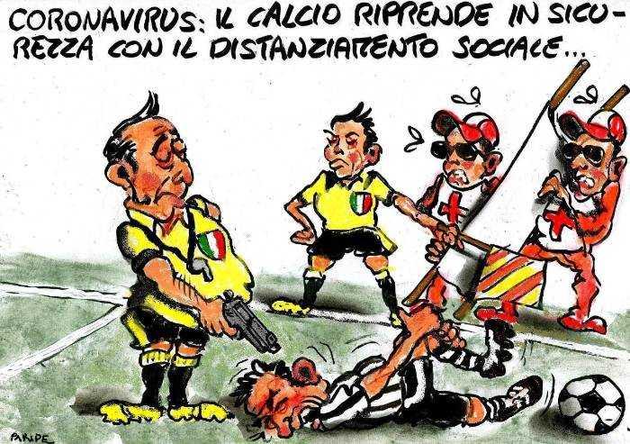 Il distanziamento nel calcio