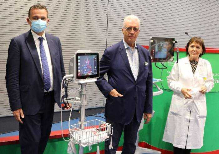 Terapia intensiva ospedale di Baggiovara, donazione di Piero Ferrari