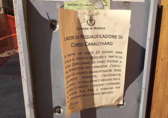 Via Canalchiaro: disagi a non finire. Paralisi almeno fino al 3 agosto