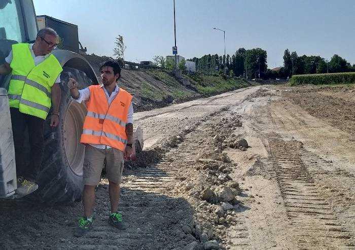 Ampliamento Strada Romana sud: proseguono i lavori