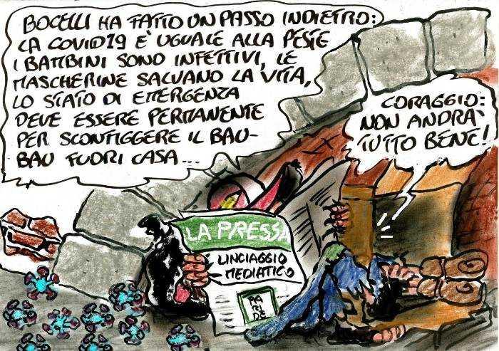 Bocelli si pente: non andrà tutto bene