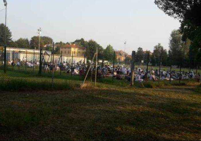 Nella Mirandola leghista mattinata all'insegna della preghiera islamica
