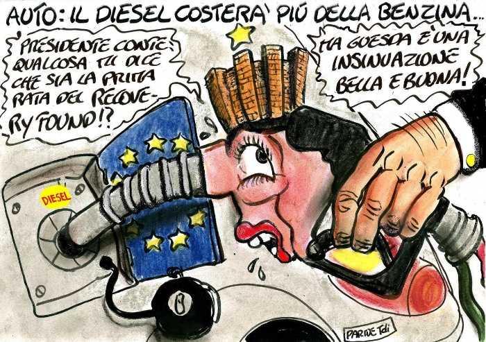 Benzina e diesel pari sono