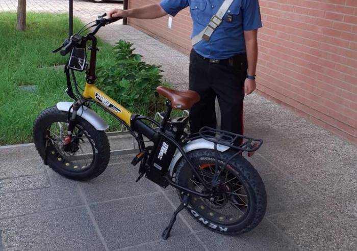 Carpi: costosa bici rubata recuperata dai Carabinieri: due denunce