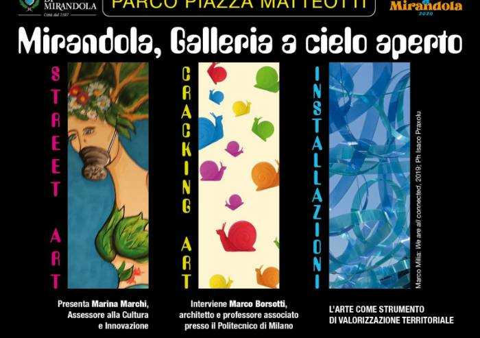 Mirandola, galleria a cielo aperto: l'arte per tutti in centro