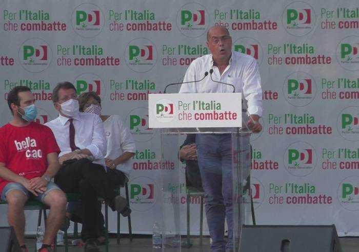 Zingaretti, attacco alla destra e autocritica: 'Io ho sbagliato, ma noi unico baluardo di democrazia'