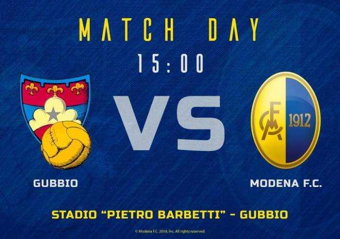 Il Modena parte col turbo, 2-0 a Gubbio