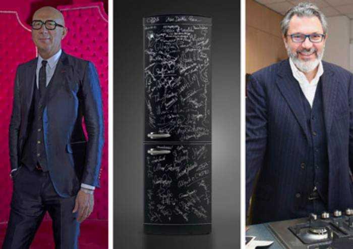 Aggiudicato a 12.500 euro il frigorifero con le firme delle star