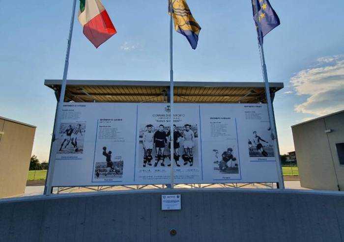 Bomporto, inaugurazione dello stadio dedicato ai Fratelli Sentimenti