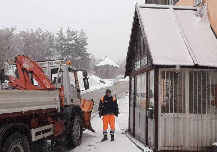 Frassinoro, prima imbiancata: 5 centimetri di neve