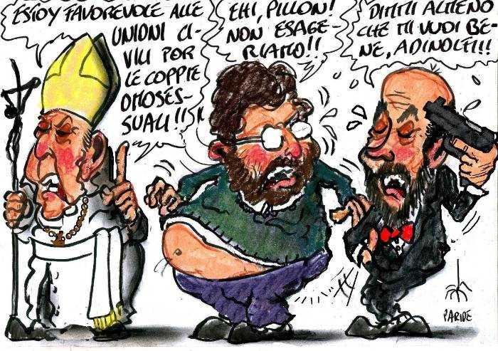 Bergoglio salta il fosso