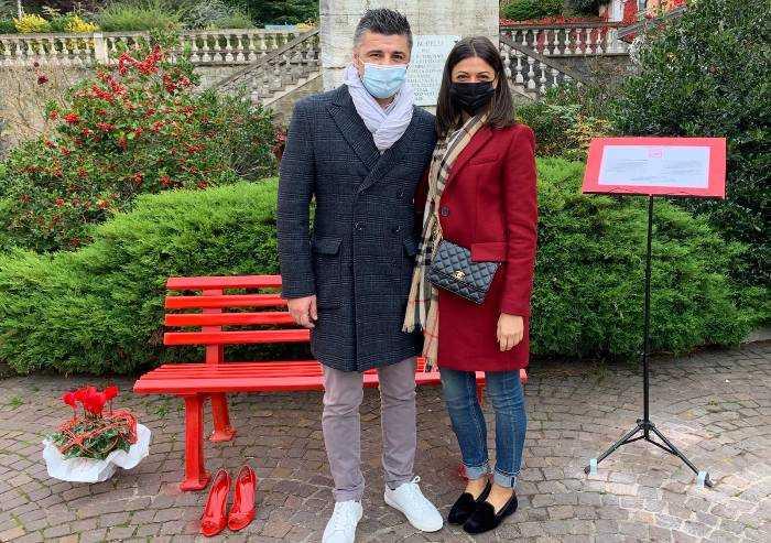 Pavullo, una panchina rossa in ricordo donne vittime di violenza