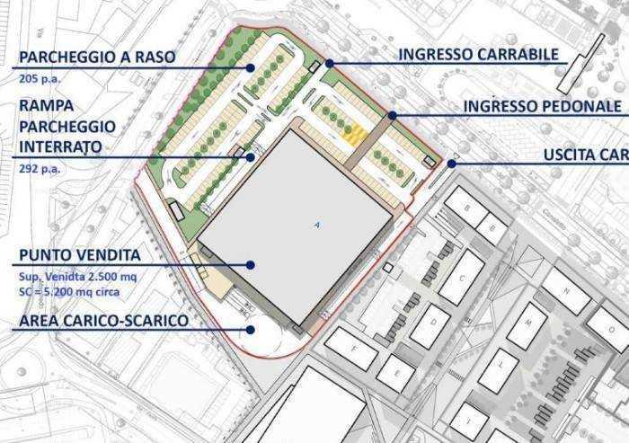 Area Esselunga, avanti adagio, lavori ad inizio 2021