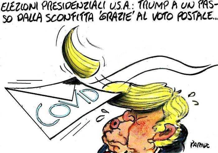 Trump tradito dal covid e dal voto postale...