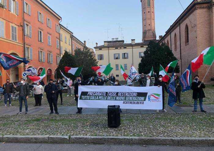 Gioventù nazionale in piazza: 'Saga Dpcm per mascherare errori'