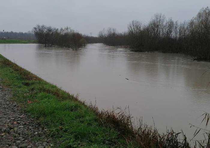 Ancora pioggia e i fiumi tornano a salire