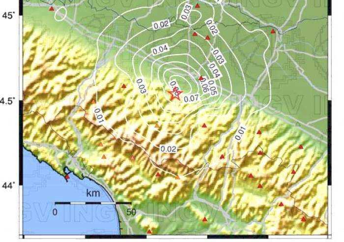 Terremoto 3.3 a Castellarano, avvertito chiaramente a Sassuolo