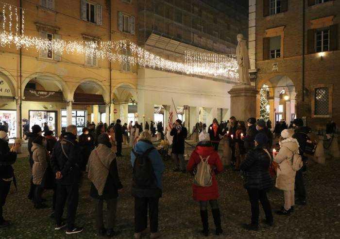 Movimento 3V e Covid, ieri manifestazione di 2 ore in piazza a Modena