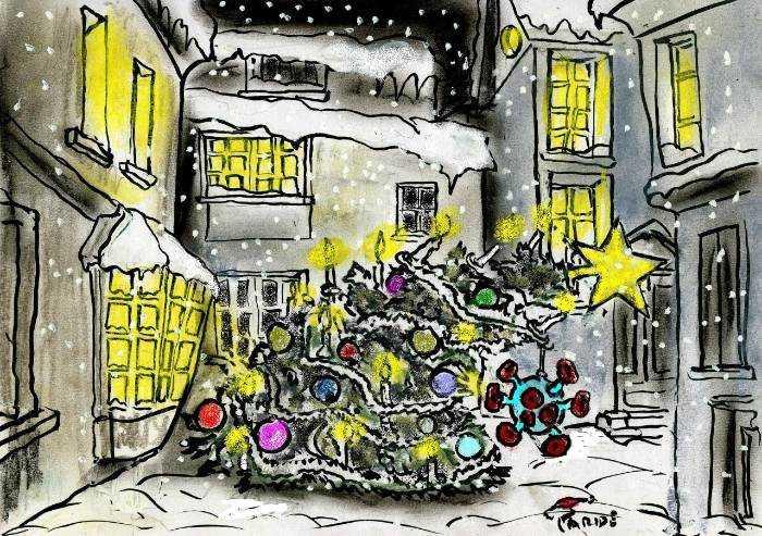 Natale piegato dal Covid