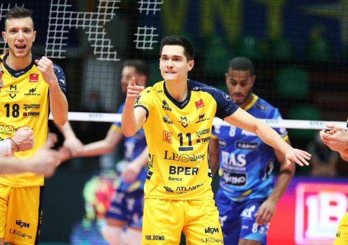 Volley: Trento implacabile, Modena perde in casa