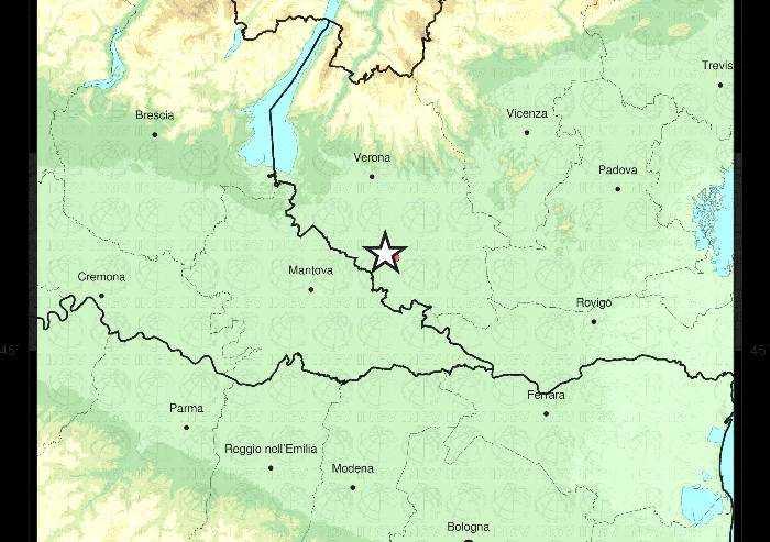 Terremoto nel veronese di magnitudo 4.4: avvertito a Modena