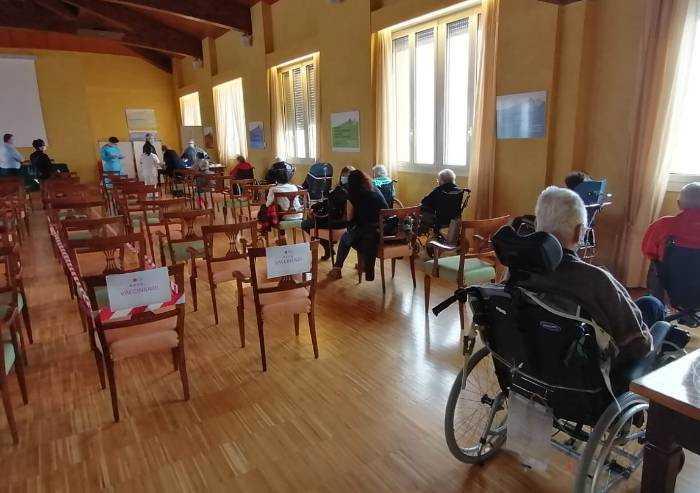 Pavullo: anche a villa Pineta in fila per il vaccino