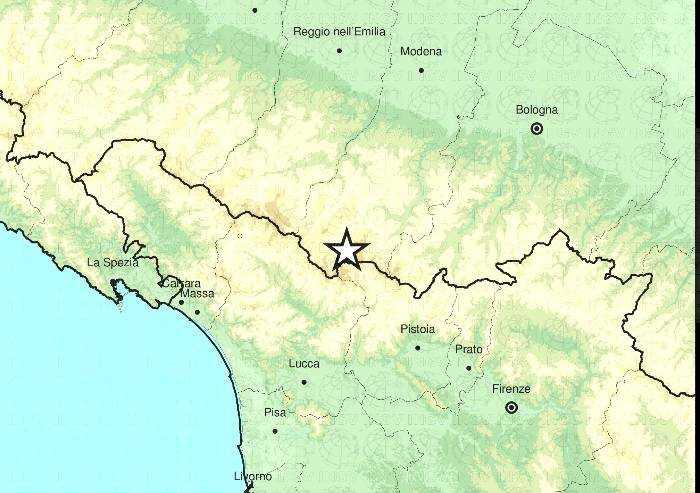 Fiumalbo, lieve scossa di terremoto nella notte
