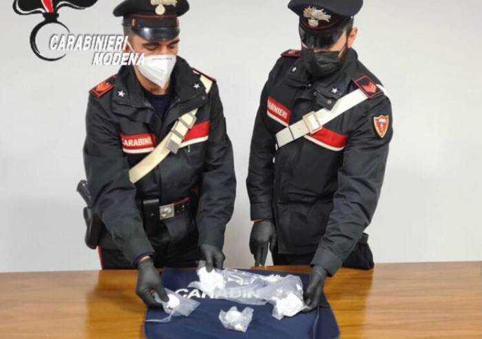 Carpi, fermato con 25 grammi di cocaina: arrestato