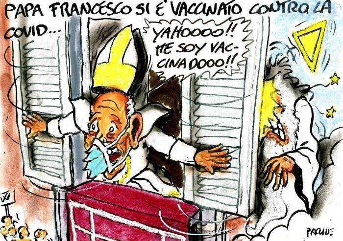 Il Papa e il vaccino