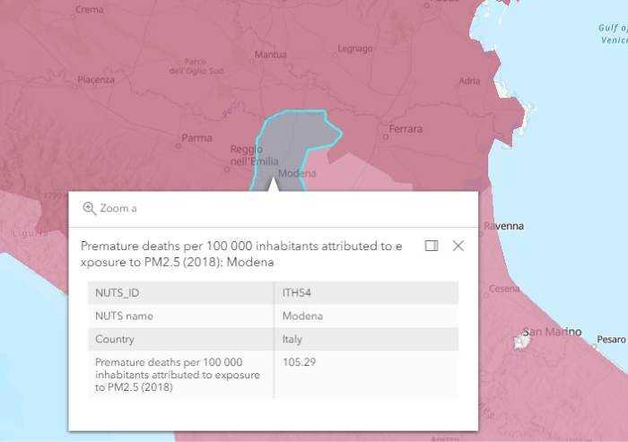 Il M5S: 'Modena, 744 morti premature ogni anno a causa del Pm 2.5'
