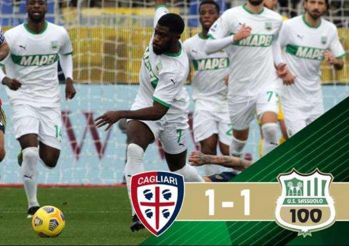 Cagliari-Sassuolo 1-1