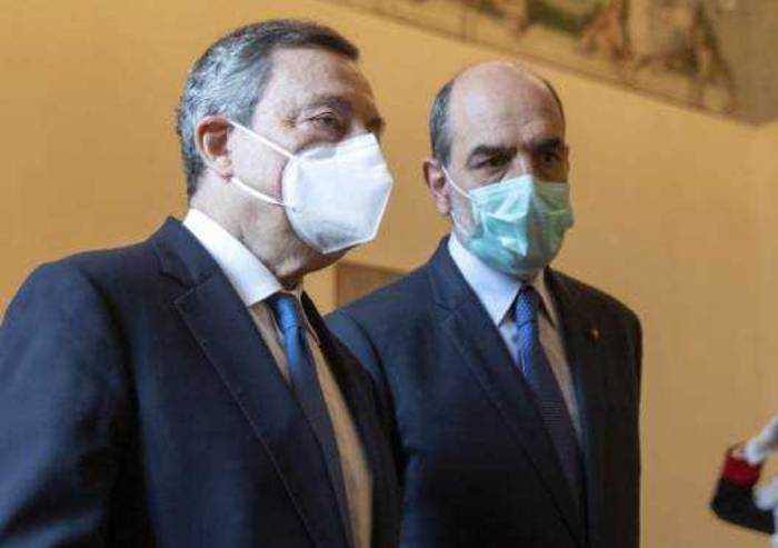 A Draghi l'ok di PD, Forza Italia e Italia Viva Meloni dice no