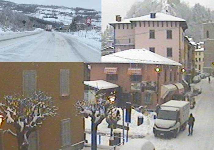 Più che neve, ghiaccio: lastre sulle strade della montagna