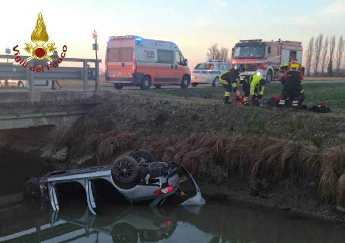 Concordia, finisce con l'auto nel canale: muore un 40enne