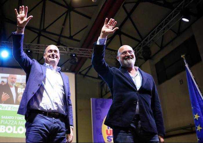 Zingaretti incensa la D'Urso, Bonaccini elogia Salvini: il Pd legato