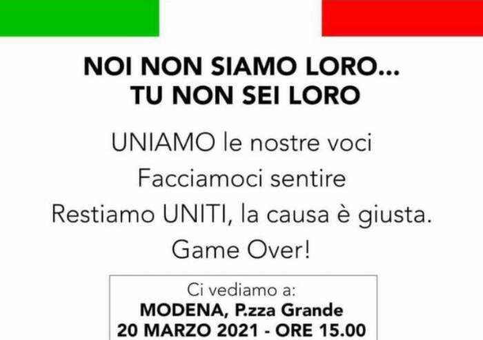 Ristoratori #ioapro: sabato manifestazione in Piazza Grande a Modena
