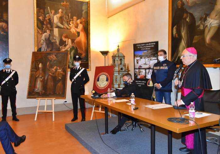 Modena, restituito dipinto del '600 trafugato 22 anni fa