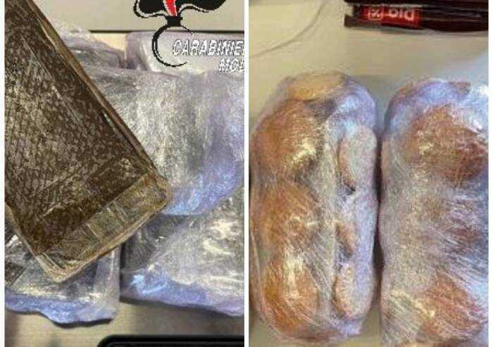 Panetti di hashish tra i biscotti: 20enne in arresto