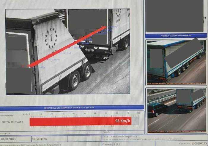 'Velox tangenziale Modena, camionisti multati nonostante rispetto dei limiti'