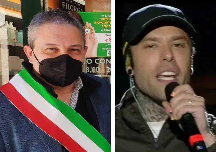 E Fedez rilancia l'orgoglio 'e rovesciata' del sindaco di Castelfranco