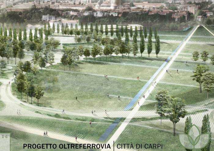 Carpi: ecco il parco dell'Oltreferrovia