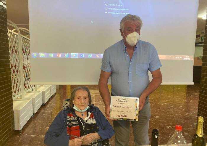 Sassuolo, festa per i 100 anni di Bianca Casolari