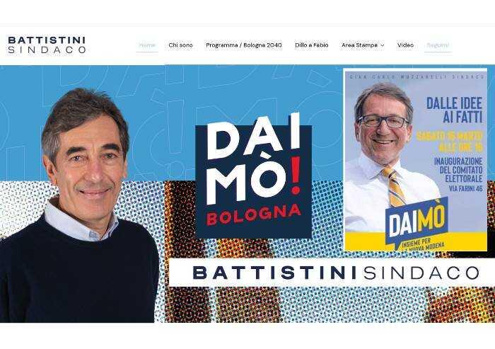 Centrodestra Bologna, il candidato copia lo slogan Dai mò a Muzzarelli
