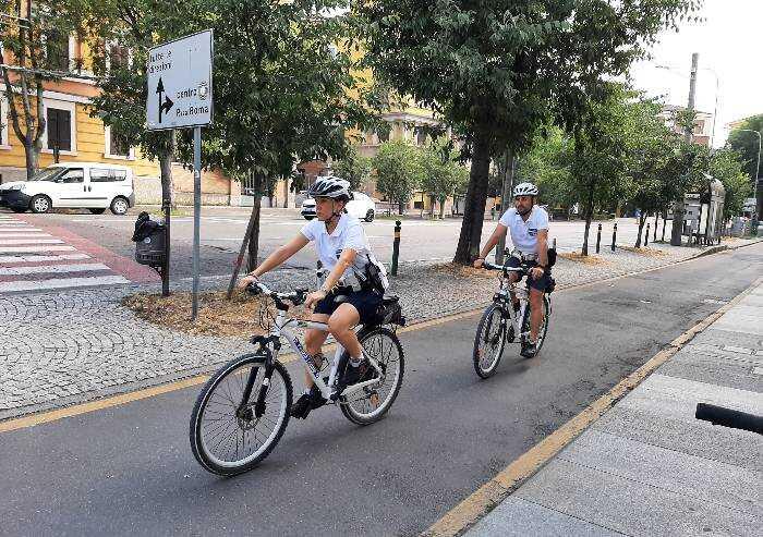 Polizia locale in bicicletta anche per i controlli anti-Covid