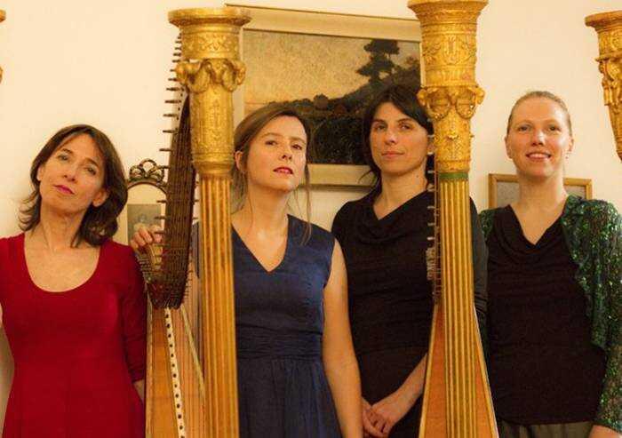 Il concerto a cinque arpe apre 'Grandezze e meraviglie'